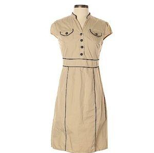 40s 50s inspired tan dress